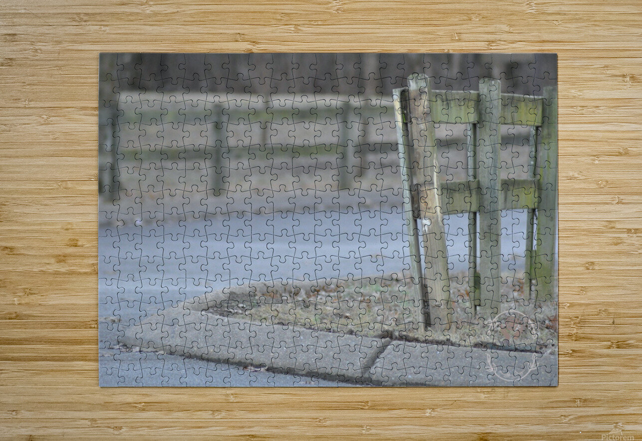Around the Fence  HD Metal print with Floating Frame on Back