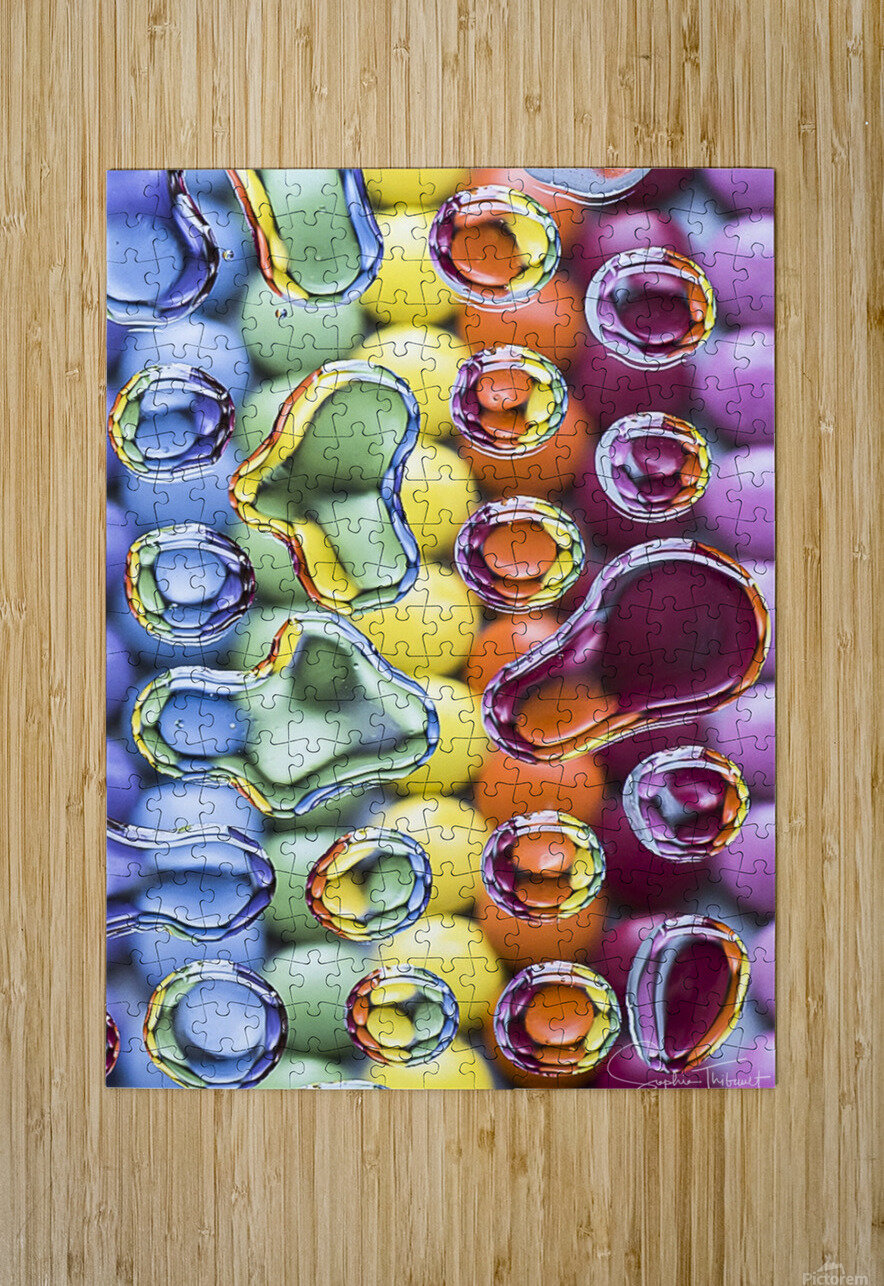 Smarties  HD Metal print with Floating Frame on Back