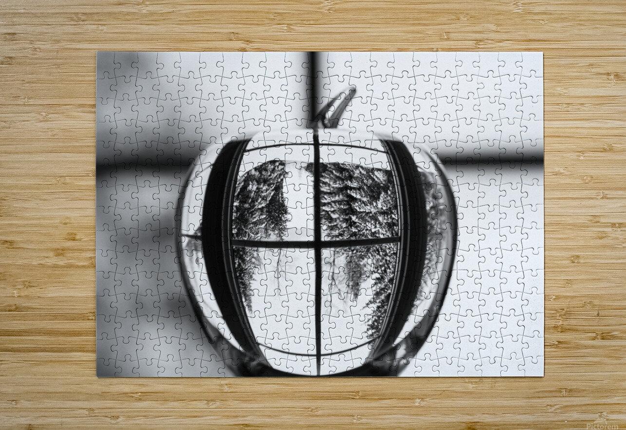 L'hiver est dans la pomme  HD Metal print with Floating Frame on Back