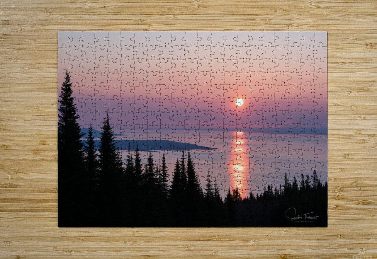 Aurore du Massif de Petite Rivière St François  HD Metal print with Floating Frame on Back