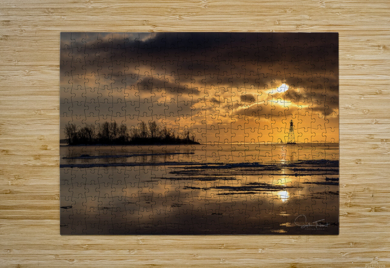 Île Dixie  HD Metal print with Floating Frame on Back