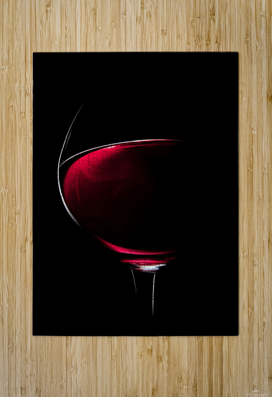 Red Wine  HD Metal print with Floating Frame on Back