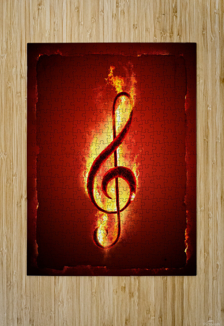 Hot Music  HD Metal print with Floating Frame on Back
