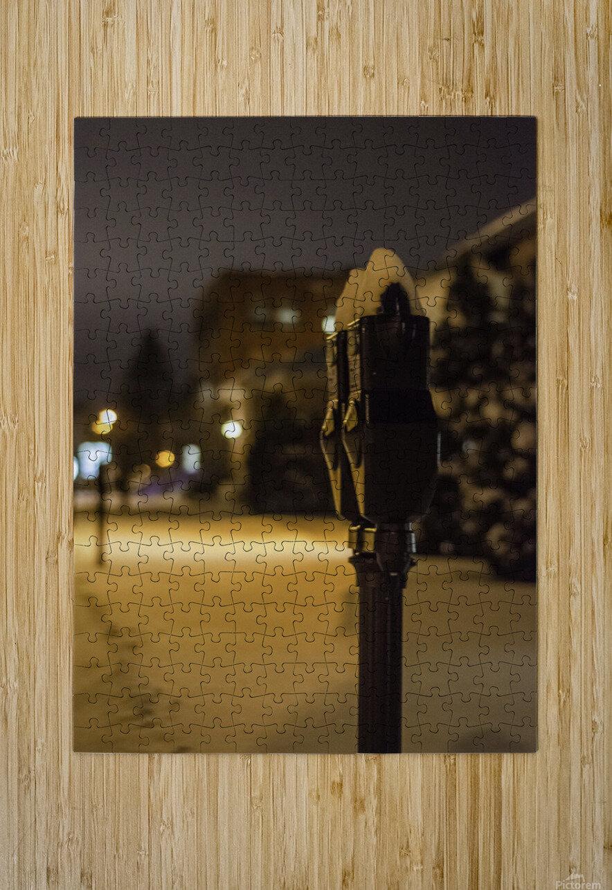 One winter night  Impression métal HD avec cadre flottant sur le dos