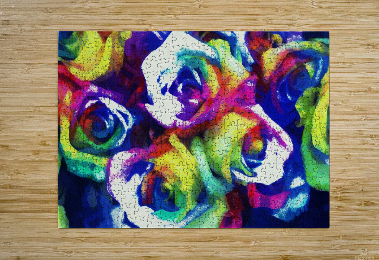 Love Me With Roses  HD Metal print with Floating Frame on Back