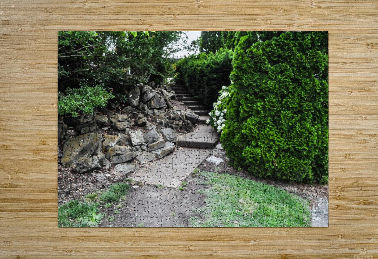 Enchanted Walkway  HD Metal print with Floating Frame on Back