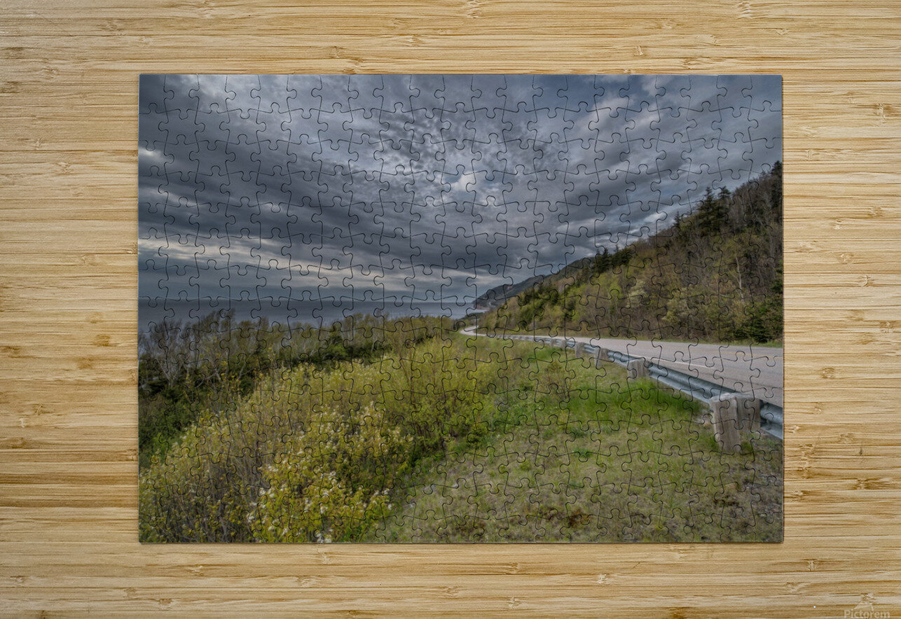 Springtime on the Cabot Trail  HD Metal print with Floating Frame on Back