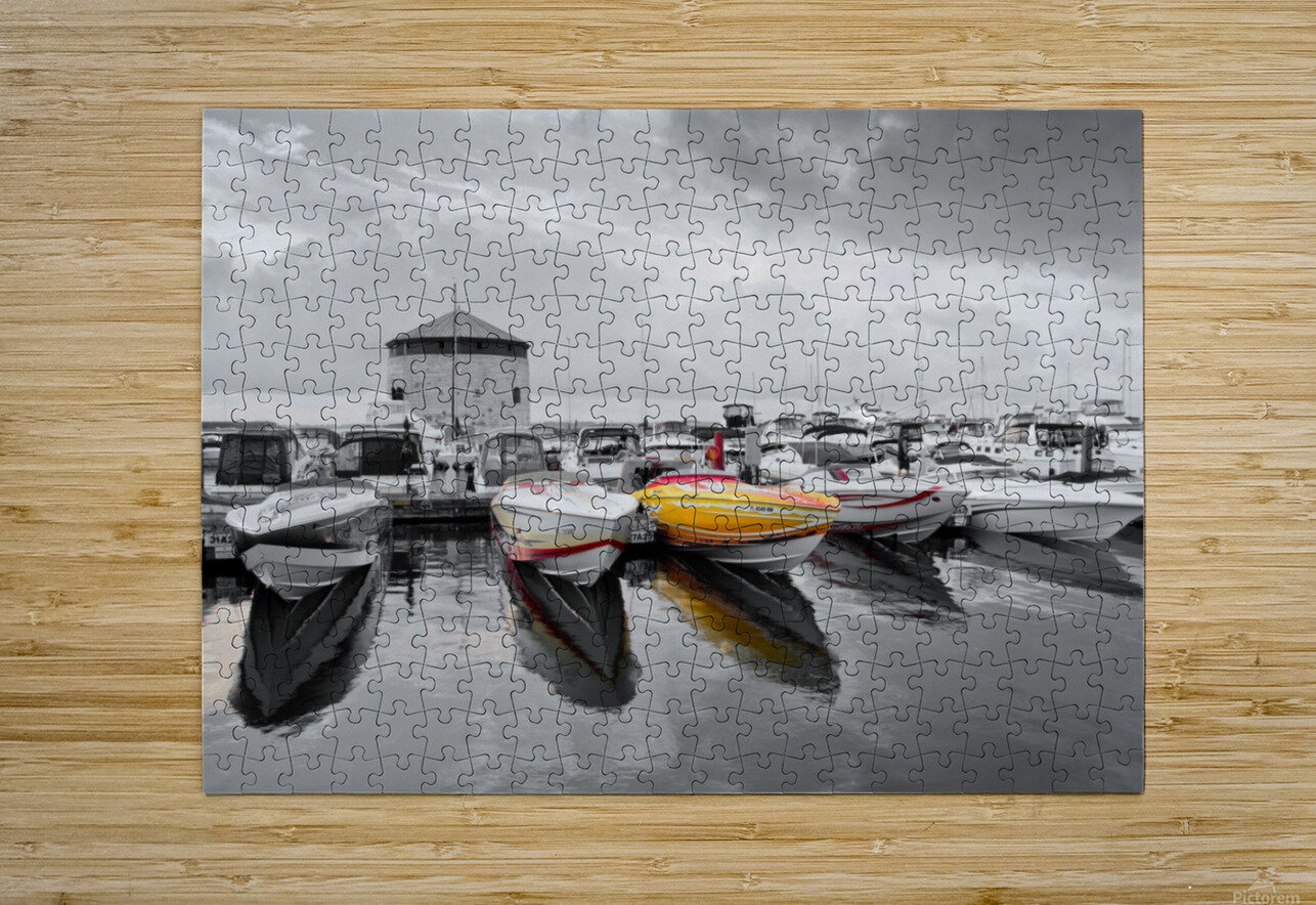 Cigarette Boats  HD Metal print with Floating Frame on Back