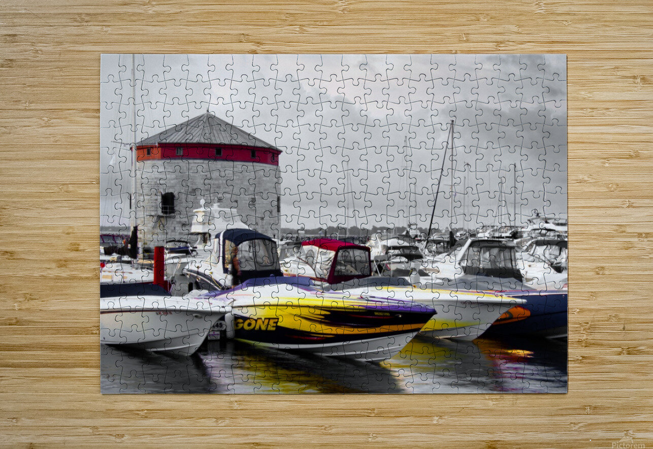 Poker Run At The Shoal Tower  HD Metal print with Floating Frame on Back