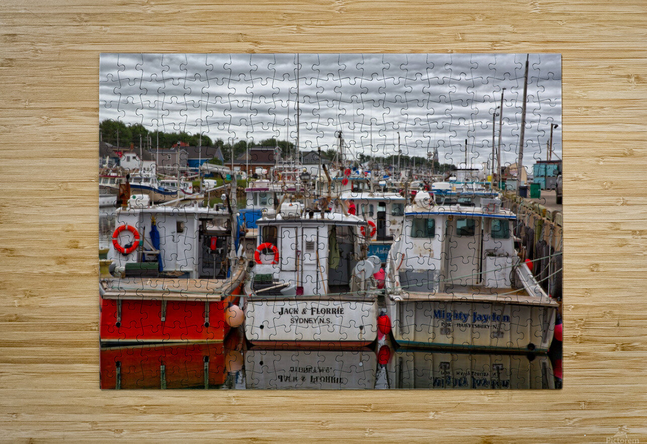Packed In  HD Metal print with Floating Frame on Back