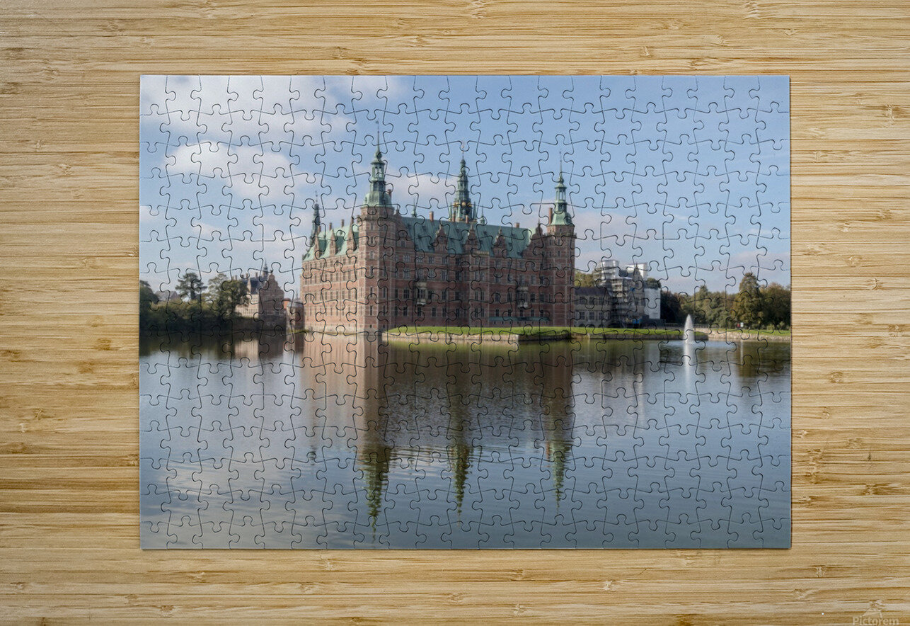 Castle of Frederiksborg   HD Metal print with Floating Frame on Back