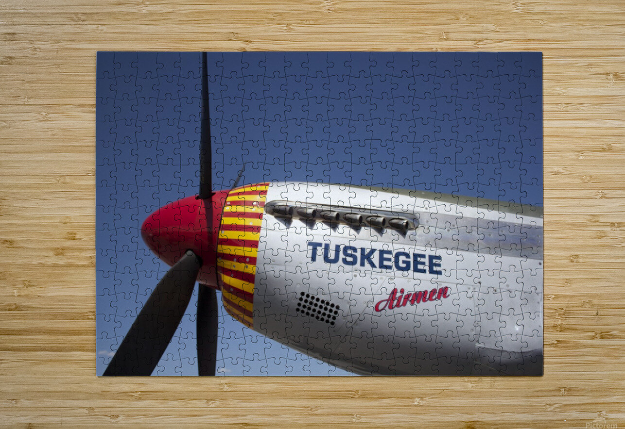 P-51 Redtail Nose  HD Metal print with Floating Frame on Back