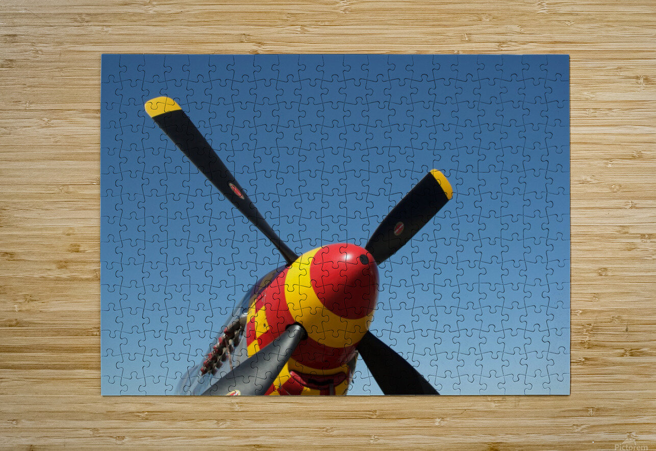 P-51 Mustang Propeller  HD Metal print with Floating Frame on Back