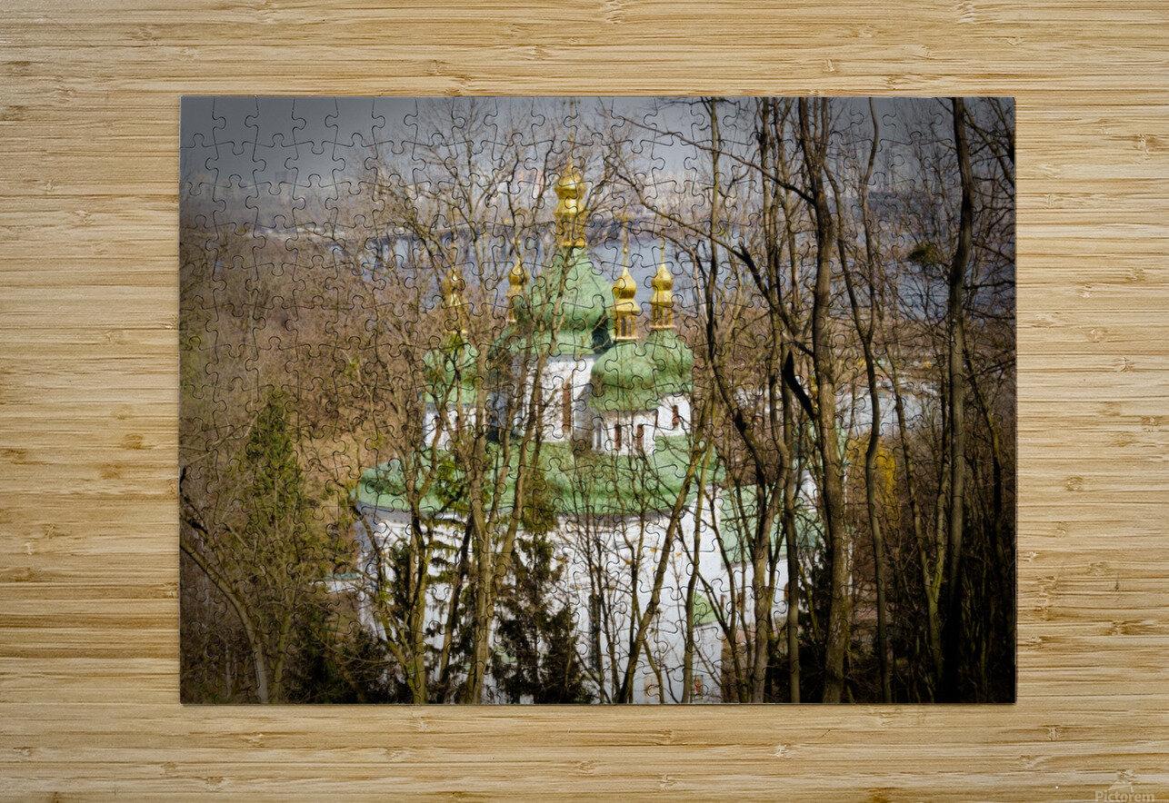 Eastern Orthodox Church in Kiev  HD Metal print with Floating Frame on Back