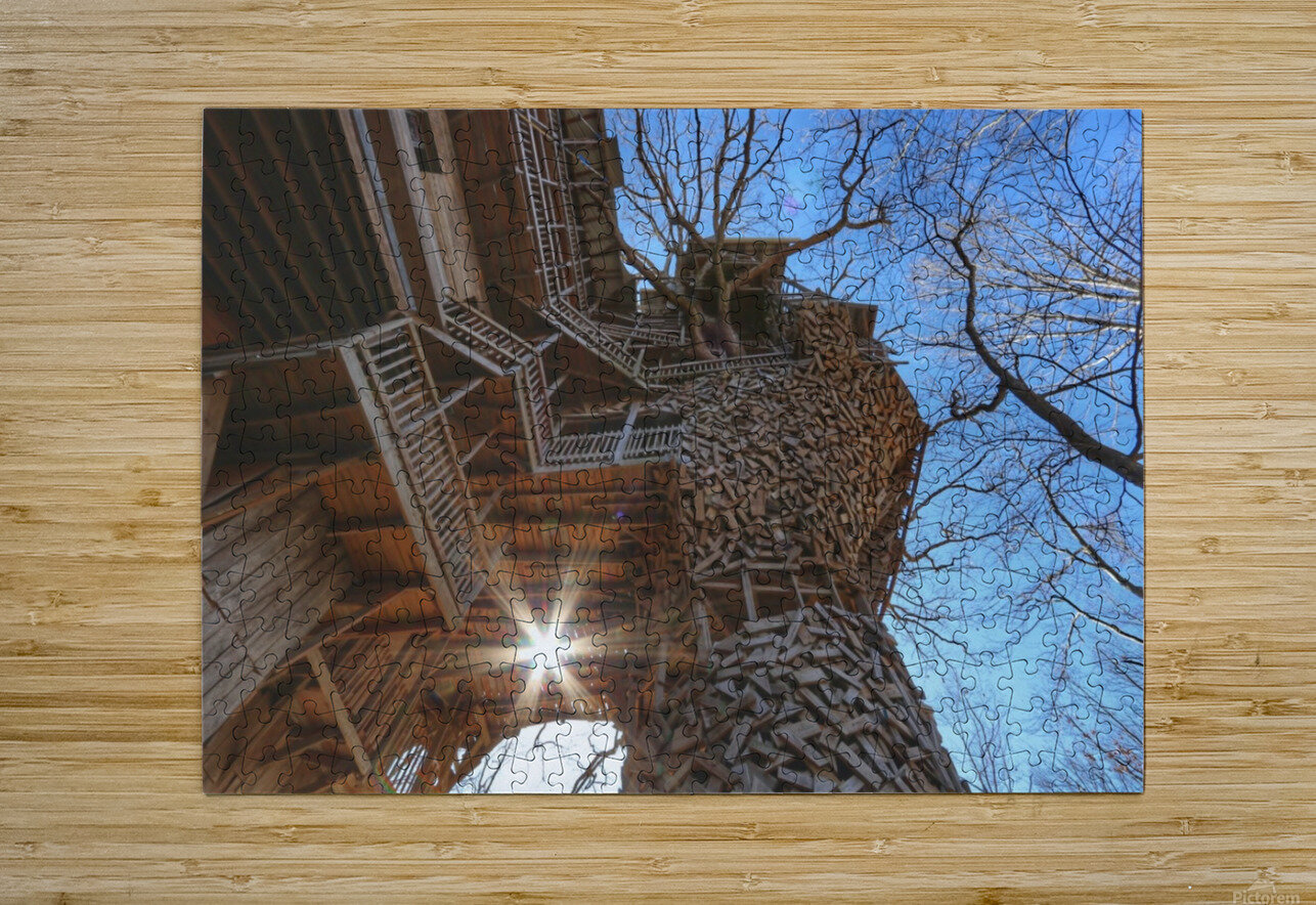 Abandoned Ministers Treehouse  HD Metal print with Floating Frame on Back