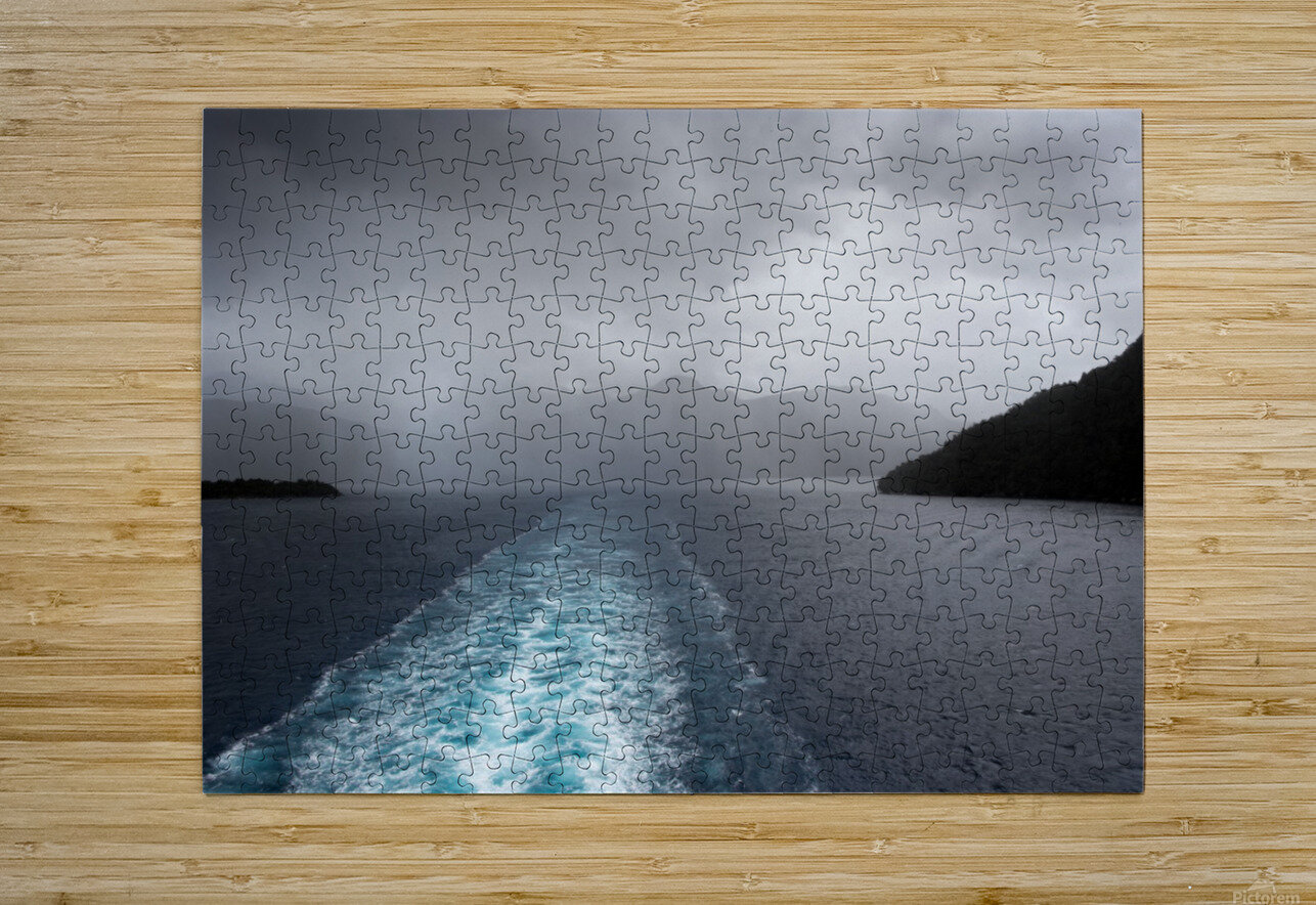 Leaving Fiordland New Zealand  HD Metal print with Floating Frame on Back