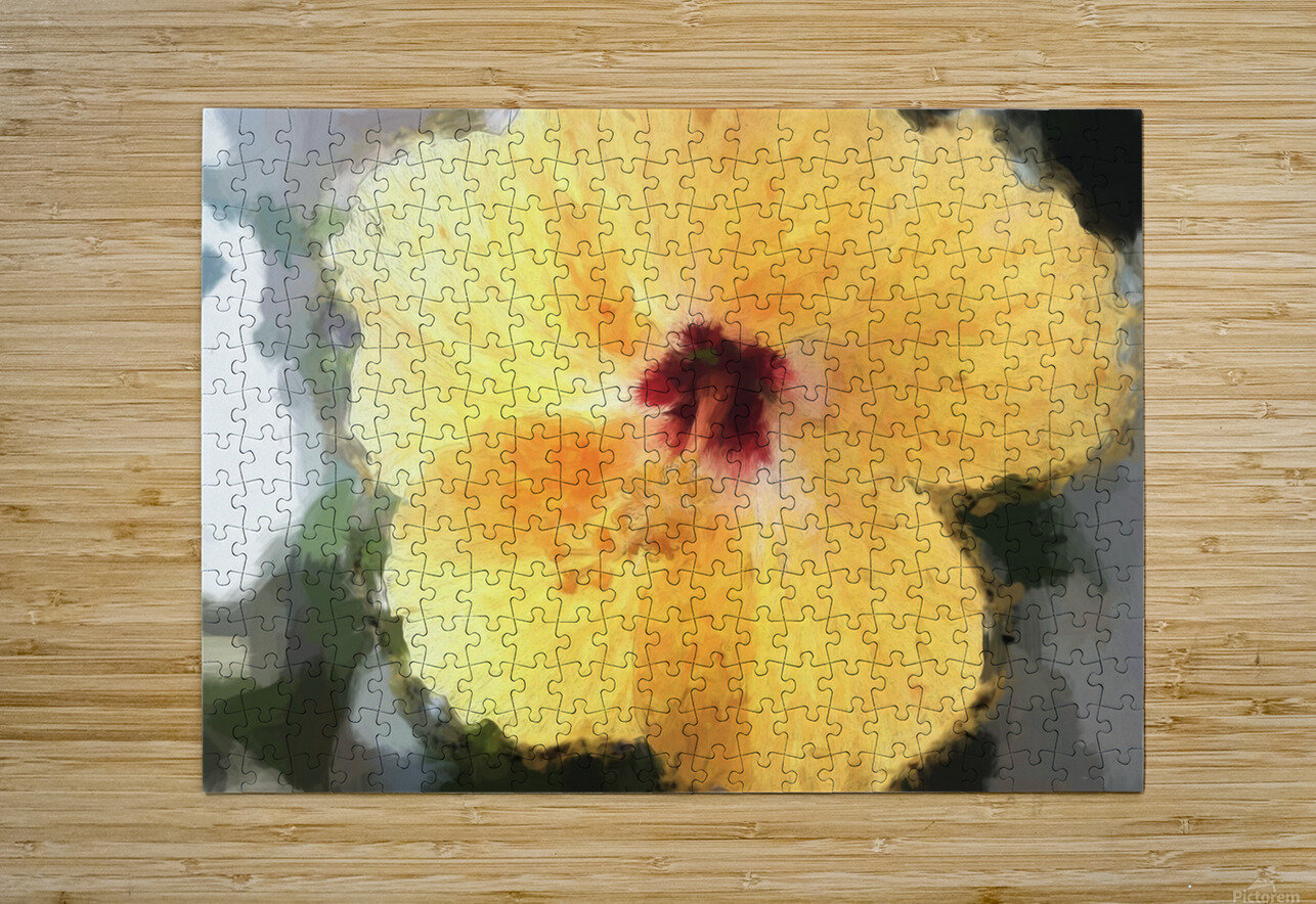 Lady Yellow  HD Metal print with Floating Frame on Back