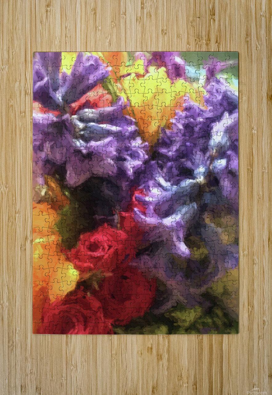 Living Color  HD Metal print with Floating Frame on Back