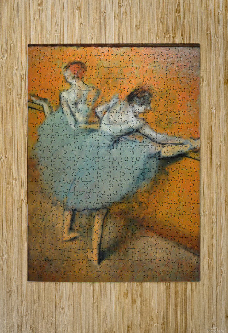 Dancers at the Barre  HD Metal print with Floating Frame on Back