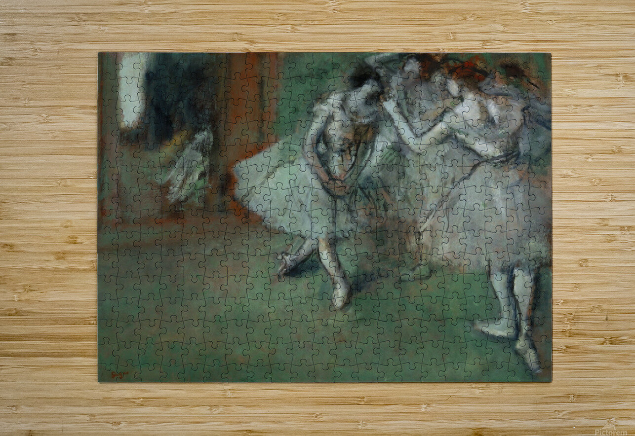 A Group of Dancers  HD Metal print with Floating Frame on Back