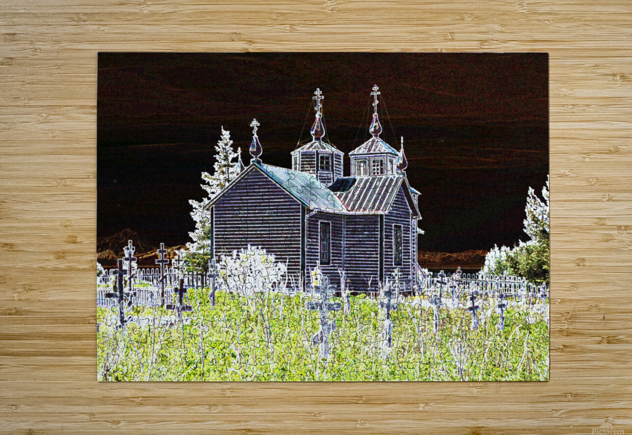 Church in Alaska  HD Metal print with Floating Frame on Back