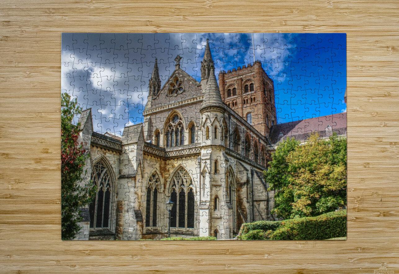 The Cathedral - England Landmarks  Impression métal HD avec cadre flottant sur le dos