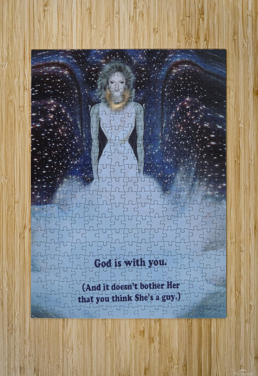 God Is With You1  HD Metal print with Floating Frame on Back