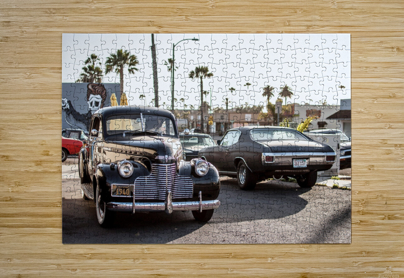 Classy Old school Car  HD Metal print with Floating Frame on Back