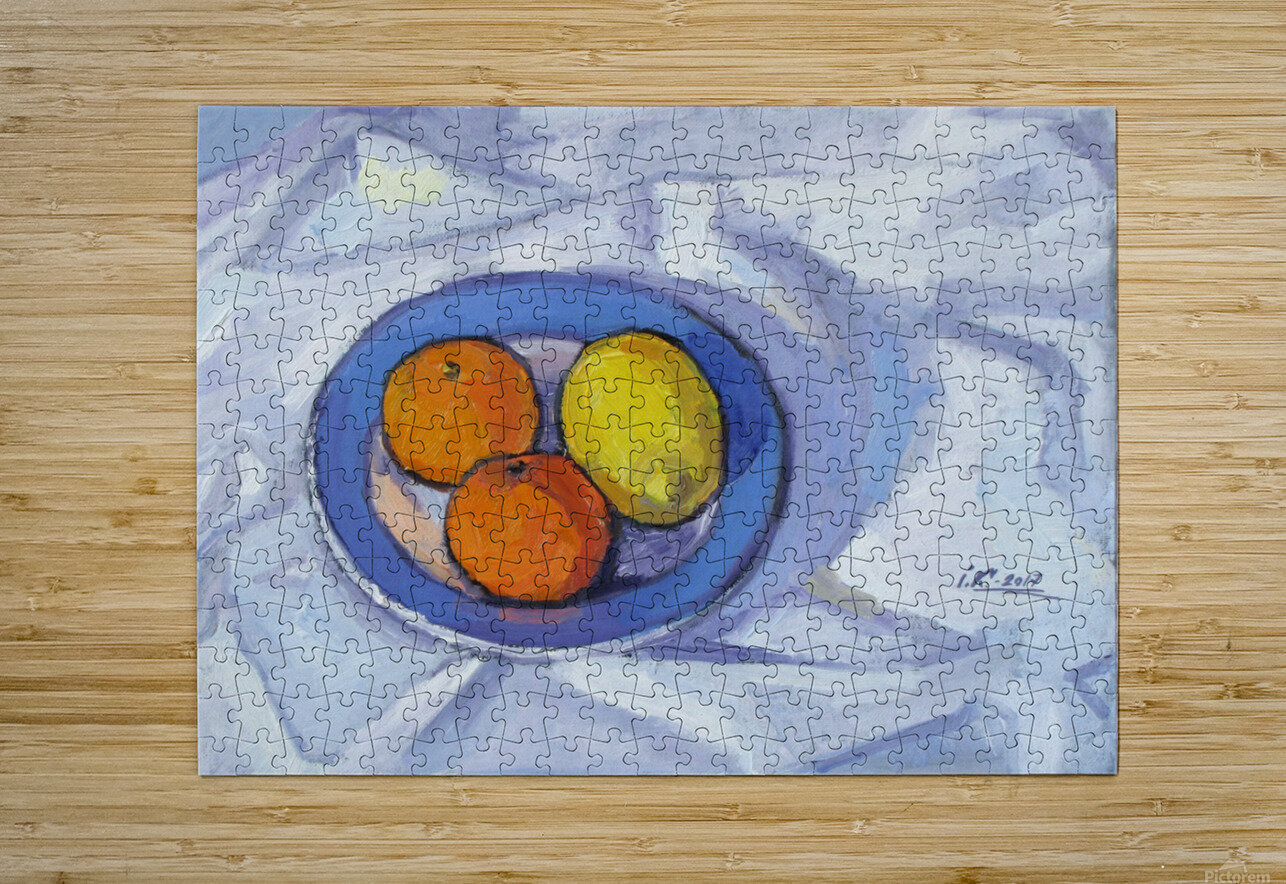 Oranges and Lemon  HD Metal print with Floating Frame on Back