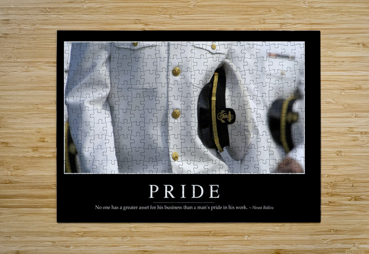 Pride: Inspirational Quote and Motivational Poster  HD Metal print with Floating Frame on Back