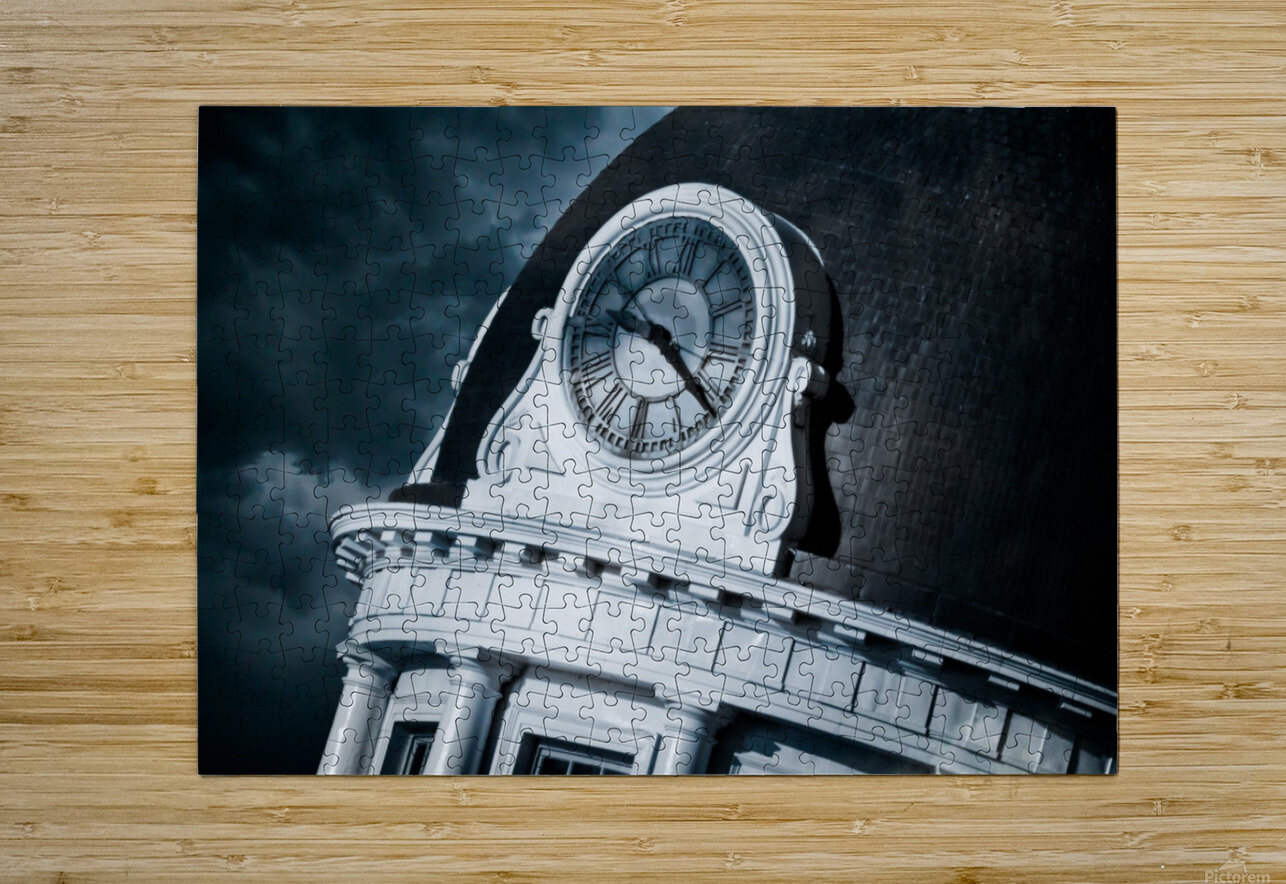 Kingstons Clock  HD Metal print with Floating Frame on Back