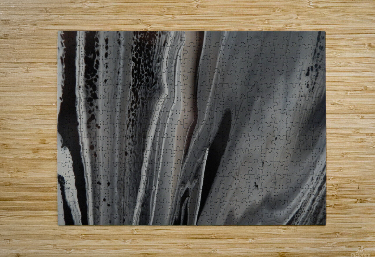 BLACK MARBLE  HD Metal print with Floating Frame on Back