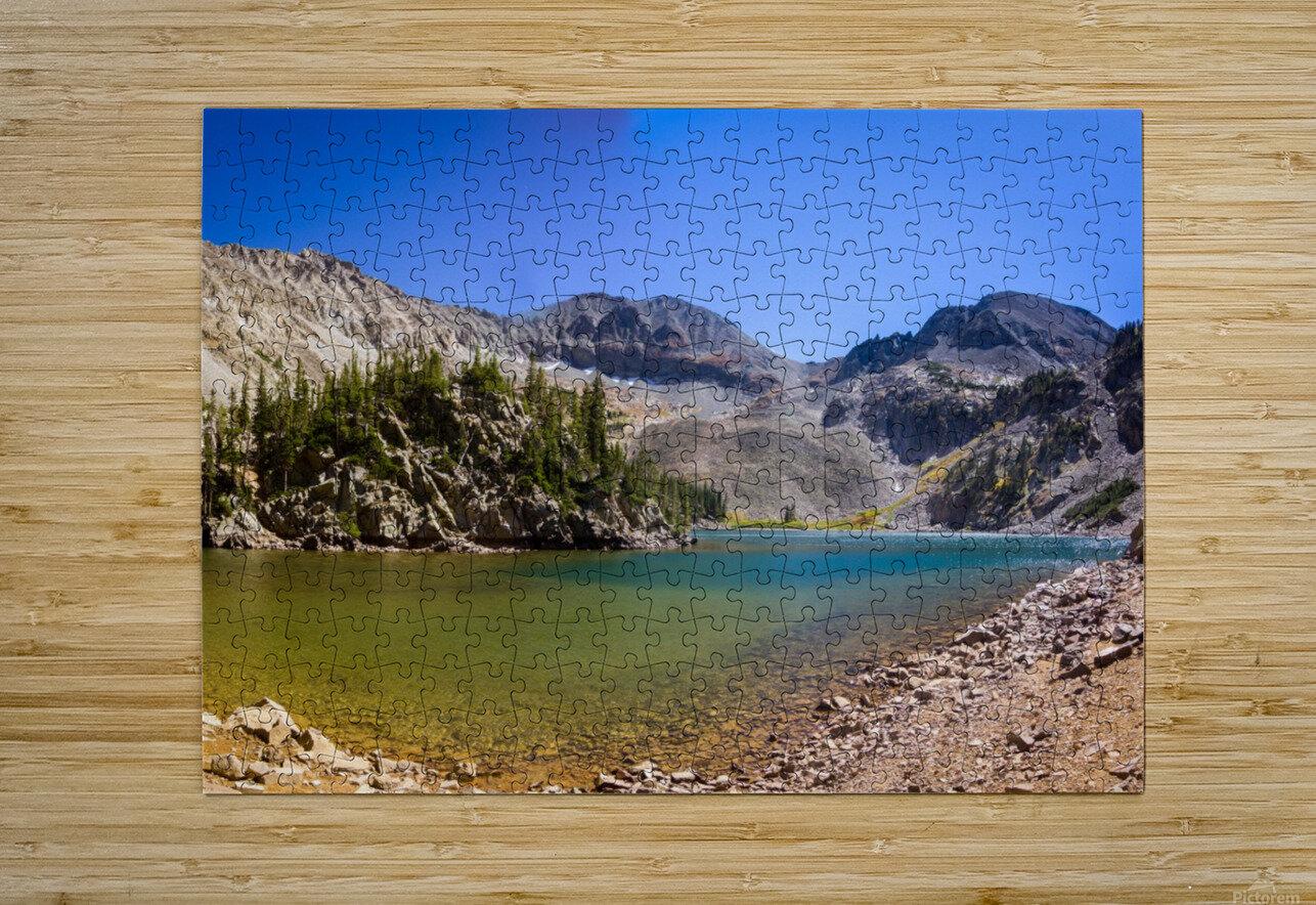 Lake Agnes CO - Glacial Lake   Impression métal HD avec cadre flottant sur le dos