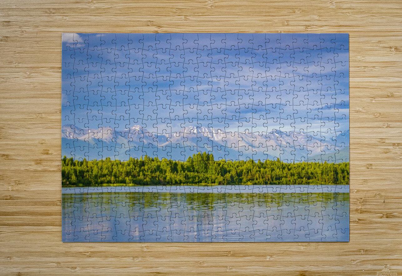 Summer in Alaska  HD Metal print with Floating Frame on Back