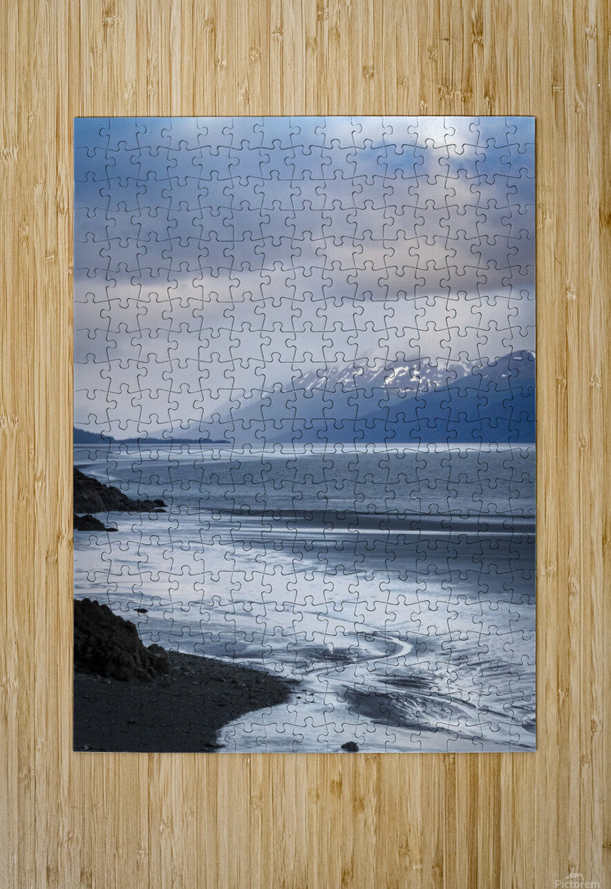 Authentic Alaska  HD Metal print with Floating Frame on Back