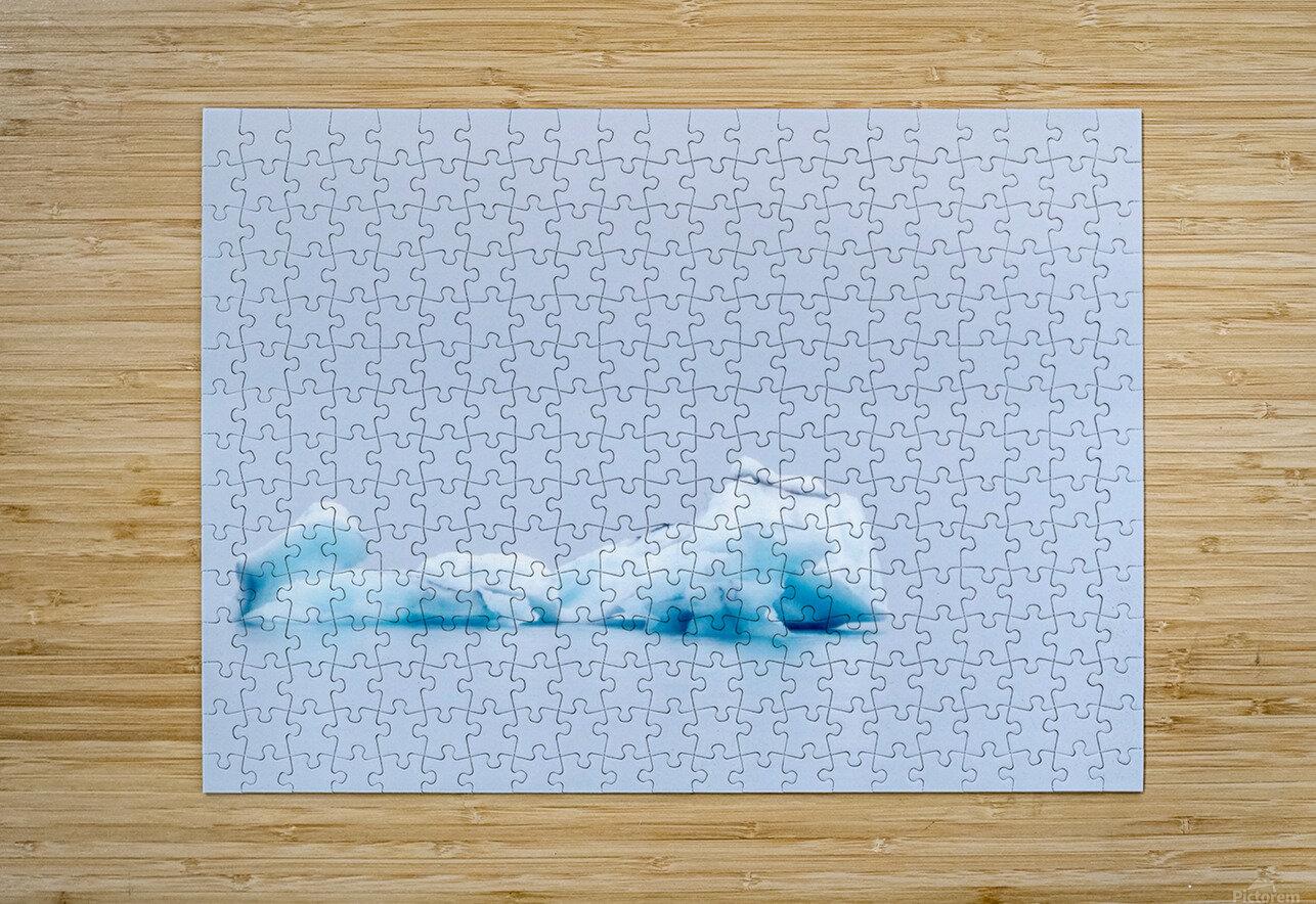 Iceberg Images - Alaska  Impression métal HD avec cadre flottant sur le dos