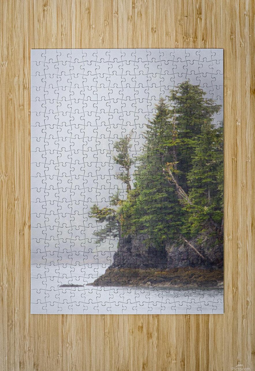 Photos Alaska Mountains  Impression métal HD avec cadre flottant sur le dos