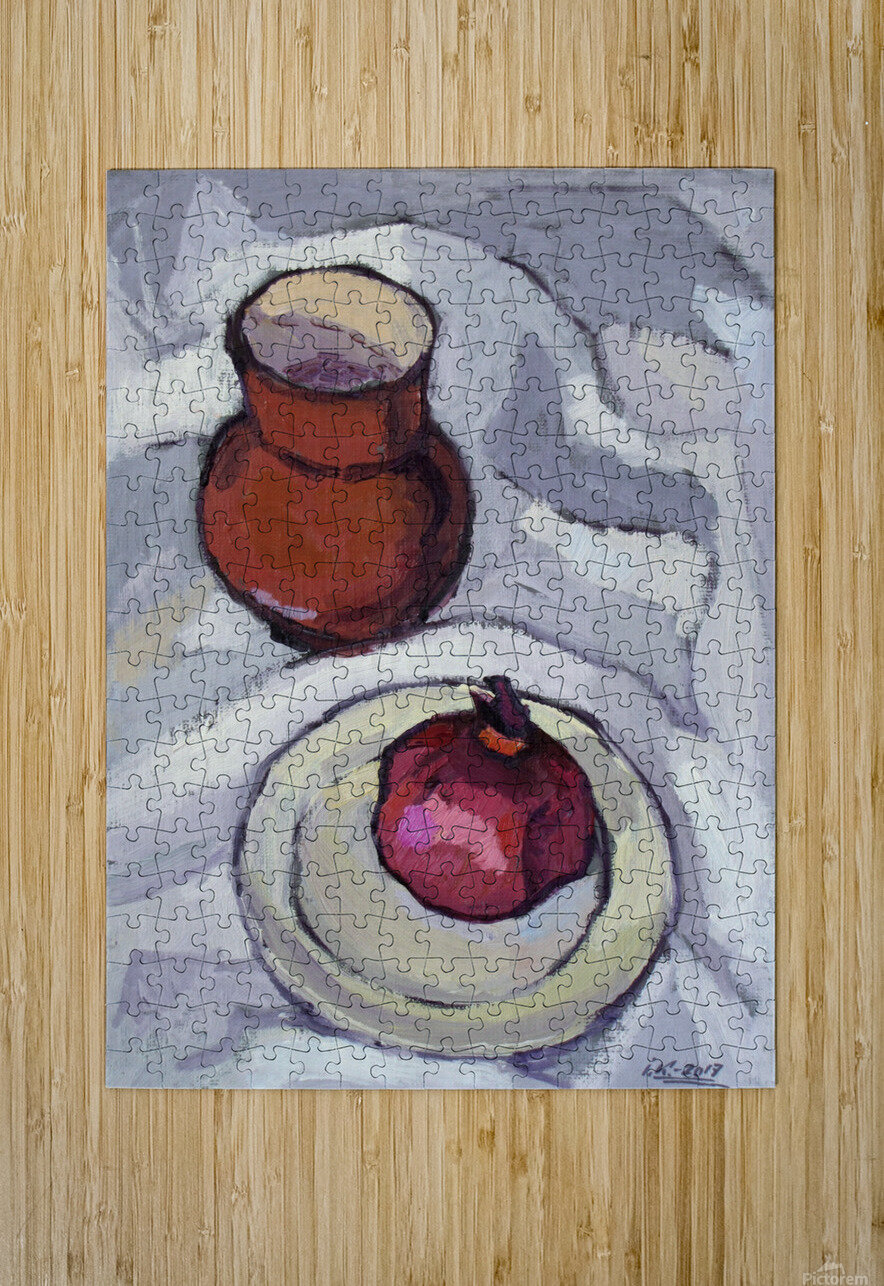 Still Life with Pomegranate  HD Metal print with Floating Frame on Back