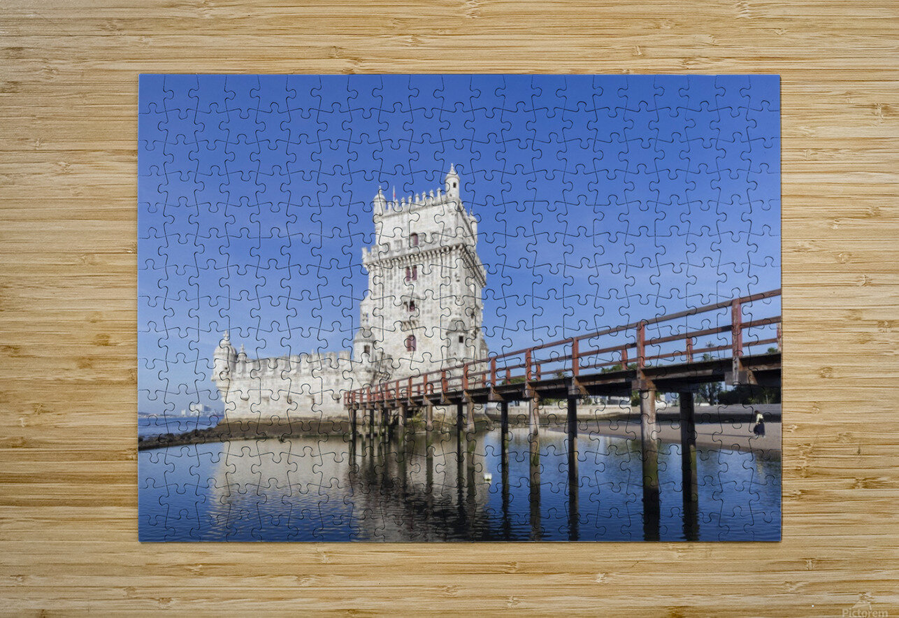 Torre de Belem  HD Metal print with Floating Frame on Back
