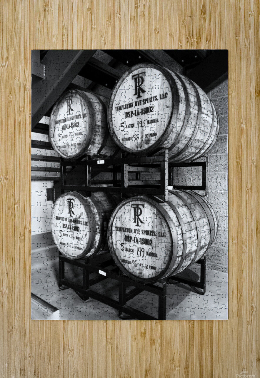 Whisky Barrels  HD Metal print with Floating Frame on Back