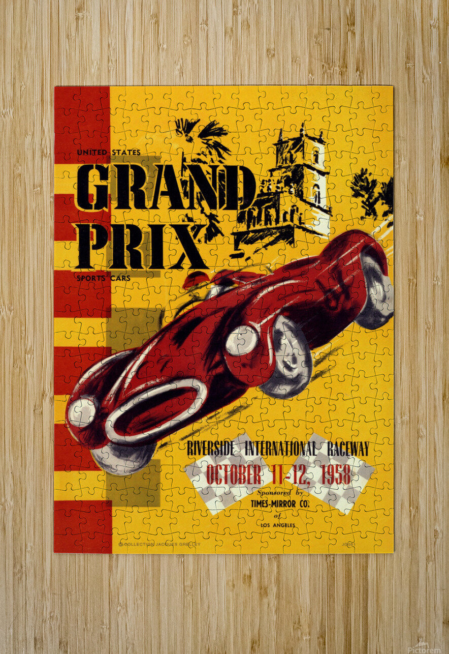 Us Grand Prix Sports Riverside International Raceway 1958  HD Metal print with Floating Frame on Back