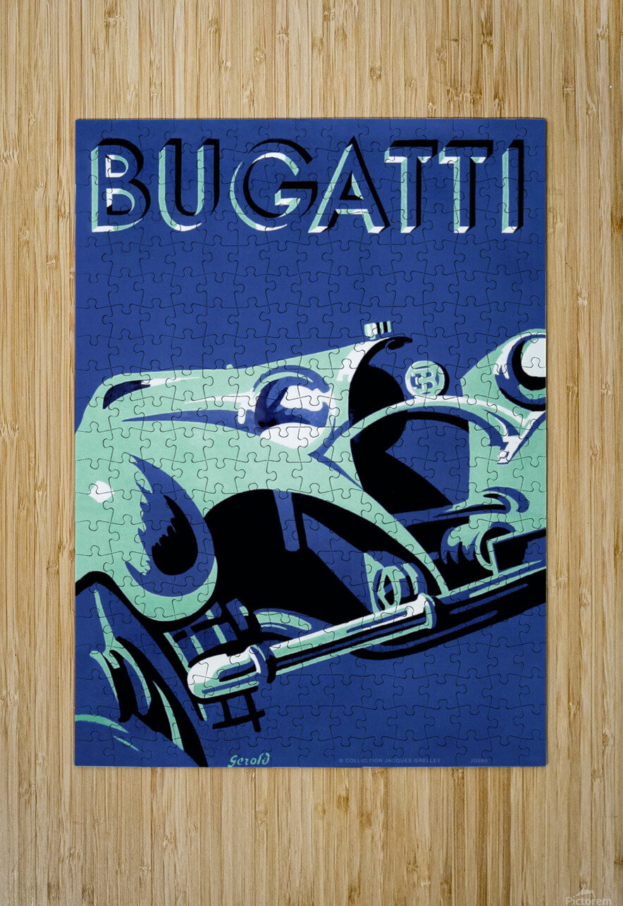 Bugatti Type 50 Super Roadster 1932  HD Metal print with Floating Frame on Back