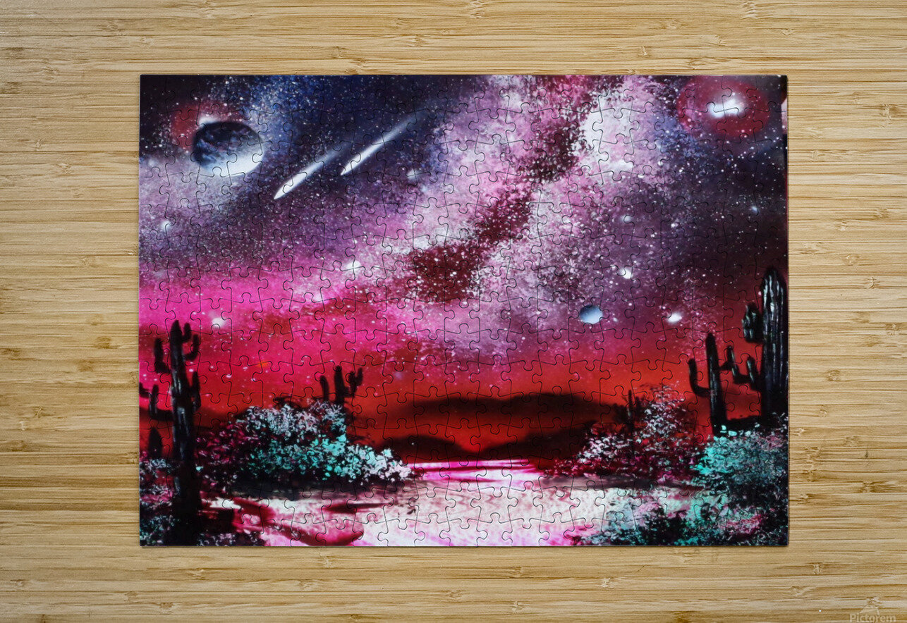 Cactus galaxy  HD Metal print with Floating Frame on Back