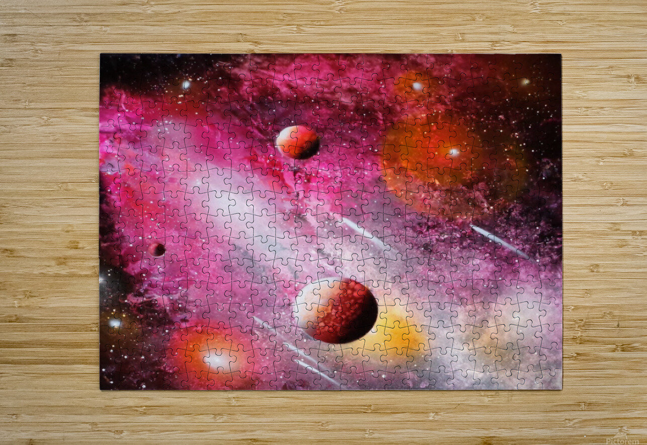 Fish galaxy  HD Metal print with Floating Frame on Back