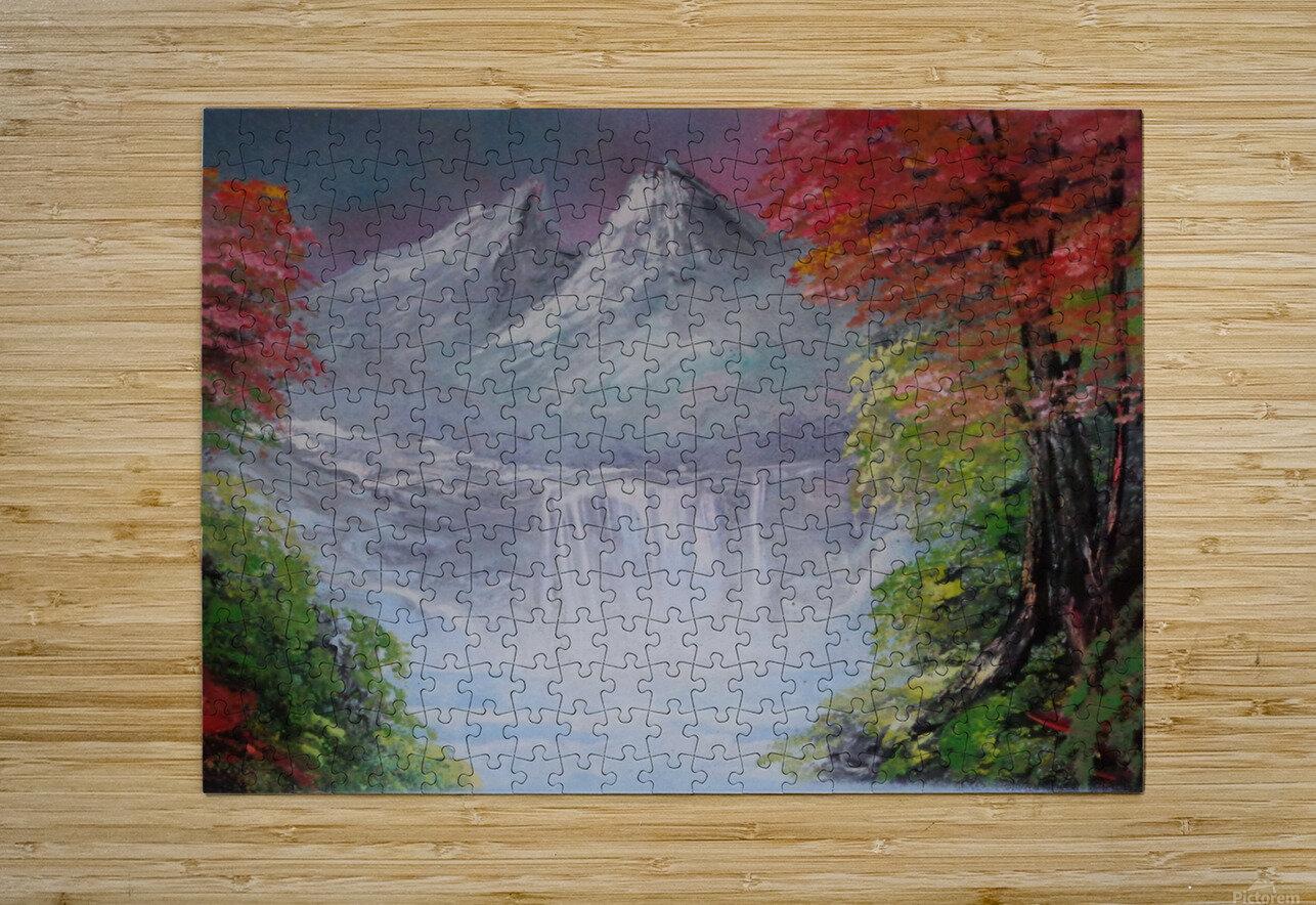 Pastel landscape  HD Metal print with Floating Frame on Back