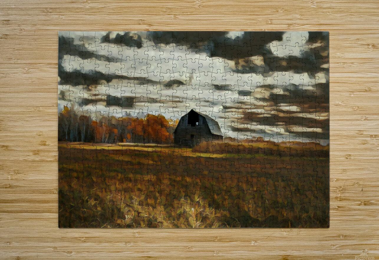 barn um  HD Metal print with Floating Frame on Back