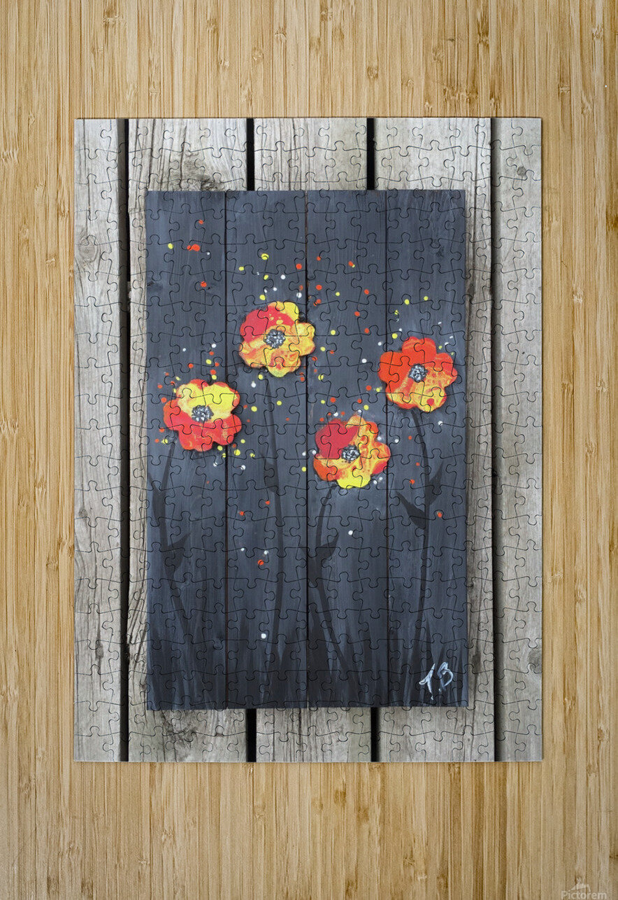 Pop up Daisies  HD Metal print with Floating Frame on Back