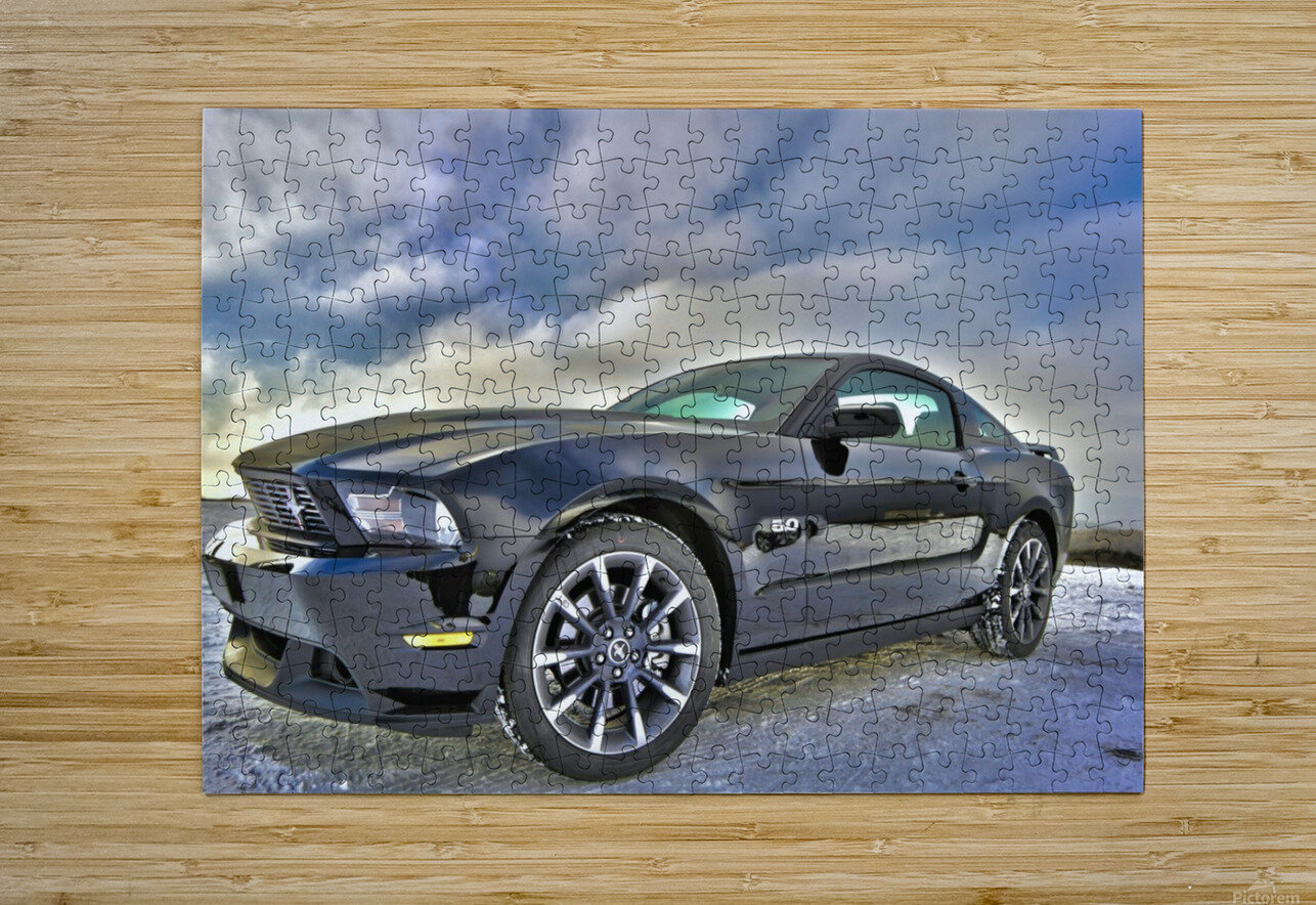 ford mustang   HD Metal print with Floating Frame on Back