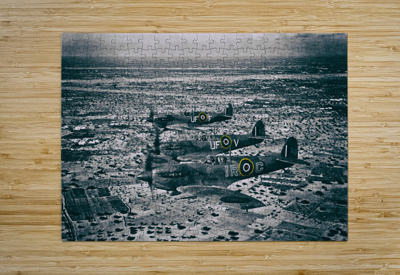 Formation Of Spitfires - 1943  HD Metal print with Floating Frame on Back