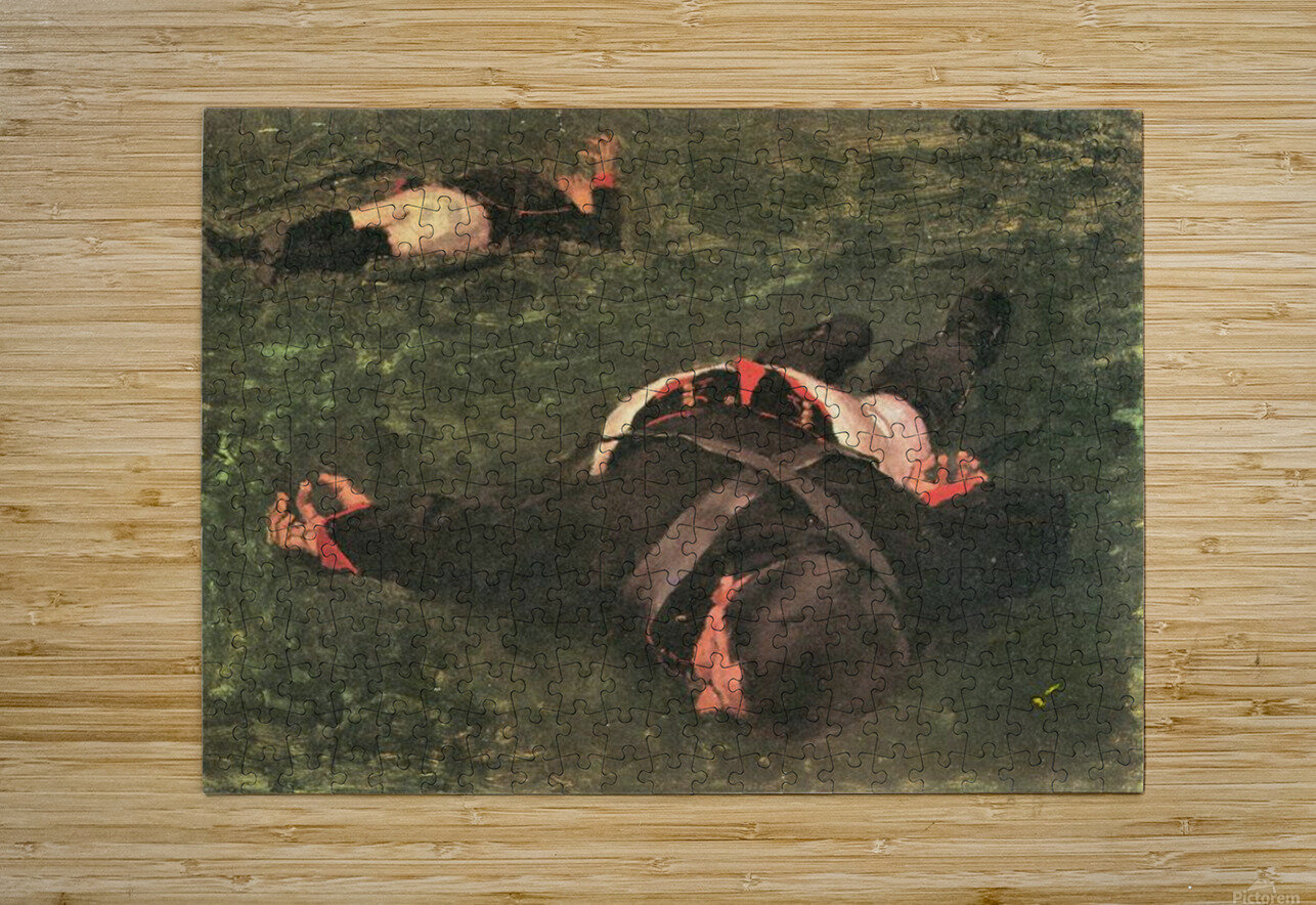 Dead Frenchmen by Albin Egger-Lienz  HD Metal print with Floating Frame on Back